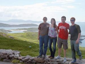 Team on Irish coast